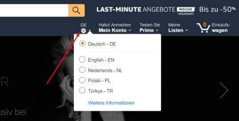Multi-language listing for Amazon Germany